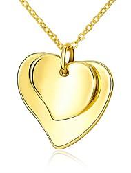 Недорогие -Жен. Ожерелья с подвесками - Позолота Сердце Мода Золотой 45 cm Ожерелье 1шт Назначение Подарок, Повседневные