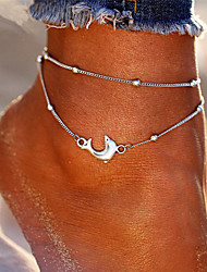 cheap -Layered Ankle Bracelet - Dolphin Bohemian, Fashion Silver For Holiday / Bikini / Women's
