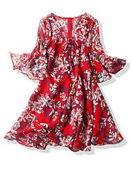 abordables -Femme Patineuse Robe Fleur Midi
