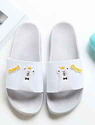 cheap -Women's Slippers Slippers / House Slippers PVC Leather solid color