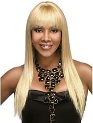 cheap -Virgin Human Hair Full Lace Wig Brazilian Hair Straight Bob Haircut 150% Density With Baby Hair Blonde Women's Mid Length Human Hair Lace Wig