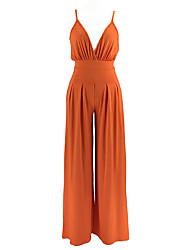 cheap -Women's Basic / Street chic Jumpsuit - Solid Colored, Backless
