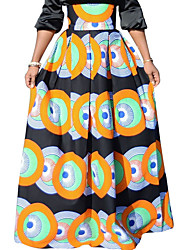 povoljno -žene izlaze / plaža maxi linija suknje - boja blok