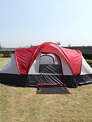 Недорогие -8 человек Туристическая палатка-хижина Семейный кемпинг-палатка На открытом воздухе С защитой от ветра Дожденепроницаемый Двухслойные зонты Карниза Сферическая Палатка 2000-3000 mm для