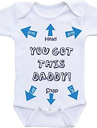 billige -Baby Drenge Trykt mønster Kort Ærme Bodysuit