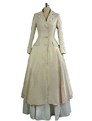 cheap -Rococo / Victorian Costume Women's Outfits / Party Costume Beige Vintage Cosplay 50% Cotton / 50% Polyester Long Sleeve Juliet Sleeve Halloween Costumes