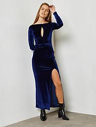 cheap -BENEVOGA Women's Street chic / Sophisticated Sheath Dress - Solid Colored Split