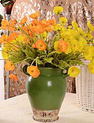 cheap -Artificial Flowers 2 Branch Classic / Single Simple Style / Wedding Flowers Eternal Flower / Poppy Tabletop Flower