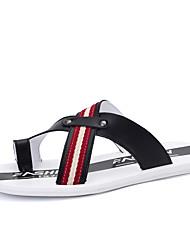 cheap -Men's Novelty Shoes Synthetics Summer Slippers & Flip-Flops Black / Orange / Blue