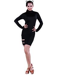 economico -Balli latino-americani Vestiti Per donna Addestramento Seta sintetica Più materiali Manica lunga Naturale Abito
