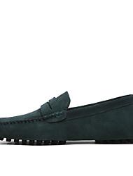 Недорогие -Муж. Официальная обувь Замша Весна / Лето Мокасины и Свитер Темно-русый / Хаки / Тёмно-синий