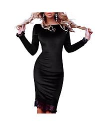 cheap -Women's Basic Bodycon Dress Lace / Cut Out