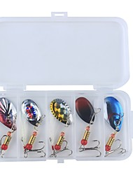 cheap -7 pcs pcs Hard Bait / Spinner Baits / Fishing Lures Hard Bait / Spoons / Lure Packs Feathers / Carbon Steel / Metal Wear-Resistant / Easy Install / Easy to Carry Sea Fishing / Bait Casting