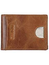 economico -portafoglio uomo in nappa con cerniera portafoglio nero / caffè