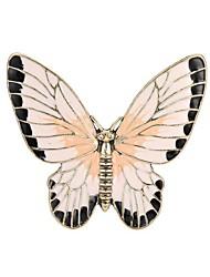 abordables -Femme Sculpture Broche - Papillon Elégant, Classique Broche Or Pour Quotidien