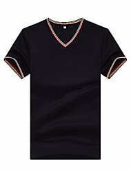 cheap -Men's T-shirt - Solid Colored V Neck / Short Sleeve