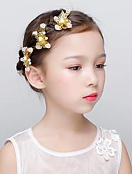 cheap -Alloy Hair Clip with Acrylic 3 Pieces Wedding / Birthday Headpiece