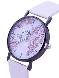 Недорогие -Жен. Наручные часы Повседневные часы / Милый PU Группа Мода / World Map Pattern Черный / Белый
