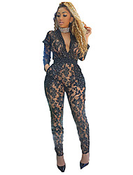 cheap -Women's Active / Punk & Gothic Romper - Solid Colored, Tassel