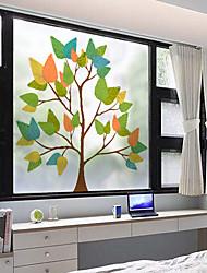 cheap -Window Film & Stickers Decoration Matte / Contemporary 3D Print PVC(PolyVinyl Chloride) Window Sticker / Matte