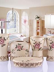 baratos -Jogo de Acessórios para Banheiro Novo Design / Multicamadas Modern Resina 5pçs - Banheiro Solteiro (L150 cm x C200 cm)