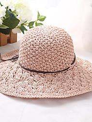 Недорогие -Жен. Классический / Праздник Соломенная шляпа Однотонный