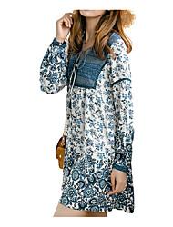 billige -Dame I-byen-tøj Tynd Skede Kjole Over knæet Dyb V