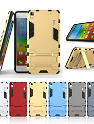 cheap -Case For Lenovo A7000 with Stand Back Cover Solid Colored Hard PC for Lenovo A7000