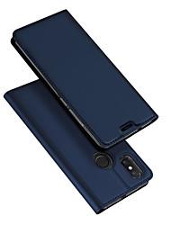 abordables -Funda Para Xiaomi Mi 8 / Mi 8 SE Flip / Ultrafina Funda de Cuerpo Entero Un Color Dura Cuero de PU para Xiaomi Mi Mix 2 / Xiaomi Mi Mix 2S / Xiaomi Mi Mix