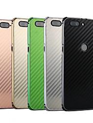 levne -Carcasă Pro OnePlus OnePlus 5T Nárazuvzdorné / Galvanizované Zadní kryt Jednobarevné Pevné Uhlíkové vlákno / Kov pro OnePlus 5T