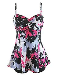 baratos -Mulheres Com Alças Boho Bandeau Tanquini - Floral, Estampado Perna do Menino Folha tropical