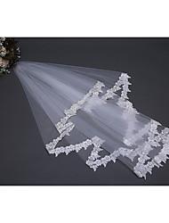 Недорогие -Один слой Цветочный дизайн / Сетка / Платье-трансформер Свадебные вуали Фата до плеч с Вышивка бисером в виде цветов 59,06 В (150см) Полиэфир / Тюль / Овальная