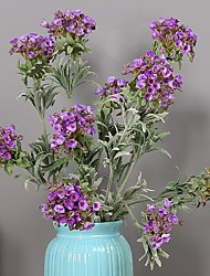 baratos -Flores artificiais 1 Ramo Clássico / Solteiro (L150 cm x C200 cm) Estilo simples / Modern Hortênsia / Pétalas / Flores eternas Flor de Mesa