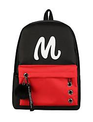 cheap -Women's Bags Polyester School Bag Zipper White / Black