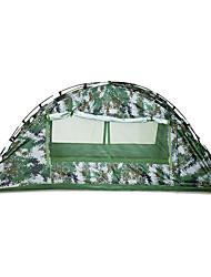 baratos -1 Pessoa Barracas de Acampar Leves Dupla Camada Poste Dome Barraca de acampamento Ao ar livre Á Prova-de-Chuva, Á Prova-de-Pó para Equitação / Campismo 1500-2000 mm Fibra de Vidro, Oxford 200*100*100