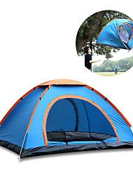 abordables -4 personnes Tente de camping familiale Unique 2 secondes Tente de camping Extérieur Léger, Etanche pour Camping / Randonnée / Spéléologie 1000-1500 mm Tissu Oxford, Ruban adhésif argenté 200*200*135
