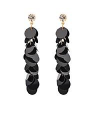 cheap -Women's Long Drop Earrings - Ethnic, Fashion Black For School / Birthday
