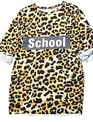 cheap -Kids Girls' Leopard Short Sleeve Dress