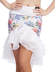 cheap -Latin Dance Bottoms Women's Training Lace / Ice Silk Sashes / Ribbons Natural Skirts