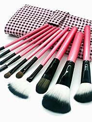 baratos -10pçs Pincéis de maquiagem Profissional Conjuntos de pincel Escova de Fibra Artificial / Escova de Nailom / Outra Escova