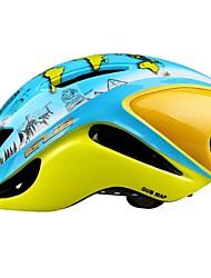 Недорогие -Взрослые Мотоциклетный шлем / BMX Шлем 12 Вентиляционные клапаны С возможностью регулировки ESP+PC Виды спорта Велосипедный спорт / Велоспорт - Голубой + Желтый Универсальные
