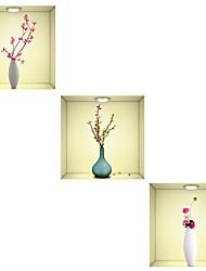 baratos -Autocolantes de Parede Decorativos - Autocolantes 3D para Parede Floral / Botânico / 3D Sala de Jantar / Quarto de Estudo / Escritório