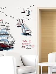 Недорогие -Декоративные наклейки на стены - Наклейки для животных Транспорт Гостиная / Спальня / Ванная комната