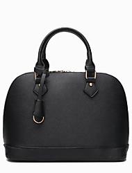 cheap -Women's Bags Cowhide Tote Zipper Black / Fuchsia / Wine