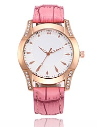 cheap -Women's Dress Watch / Wrist Watch Chinese Casual Watch PU Band Casual / Fashion Black / White / Blue / One Year