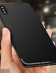 abordables -Coque Pour Apple iPhone X / iPhone 8 Plus Relief Coque Couleur Pleine Flexible TPU pour iPhone X / iPhone 8 Plus / iPhone 8