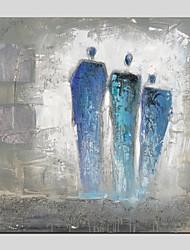 abordables -Pintura al óleo pintada a colgar Pintada a mano - Personas Modern Lona