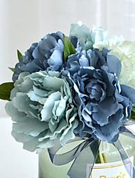 baratos -Flores artificiais 5 Ramo Clássico Casamento / Europeu Peônias Flor de Mesa