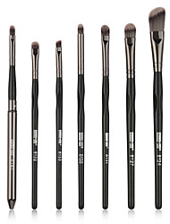 cheap -7 pcs Makeup Brushes Professional Eyeshadow Brush / Lip Brush Nylon fiber Full Coverage Wooden / Bamboo