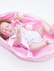 Недорогие -FeelWind Куклы реборн Девочки 22 дюймовый Полный силикон для тела / Винил - как живой Детские Девочки Подарок